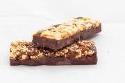 cereal bar with chocolate base